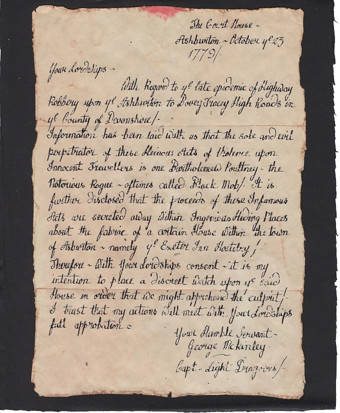 Captain Mckinley's letter of 25th October, 1779